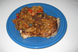 Puerto Rican Pork Chops and Rice